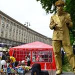 Живая статуя Остап Бендер