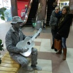 Живая статуя Гитарист