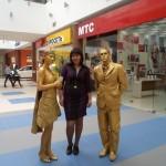 Живые статуи на рекламную акцию, заказать живую статую на рекламную акцию