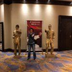 Живые статуи Спортсмены Каратисты