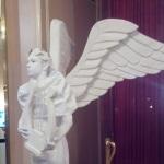 Живая статуя Ангел с лирой