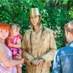 живая статуя Пушкин